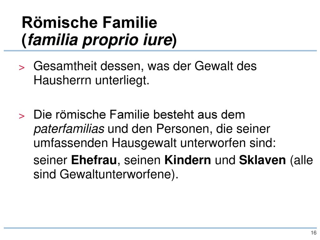 Römische Familie (familia proprio iure)