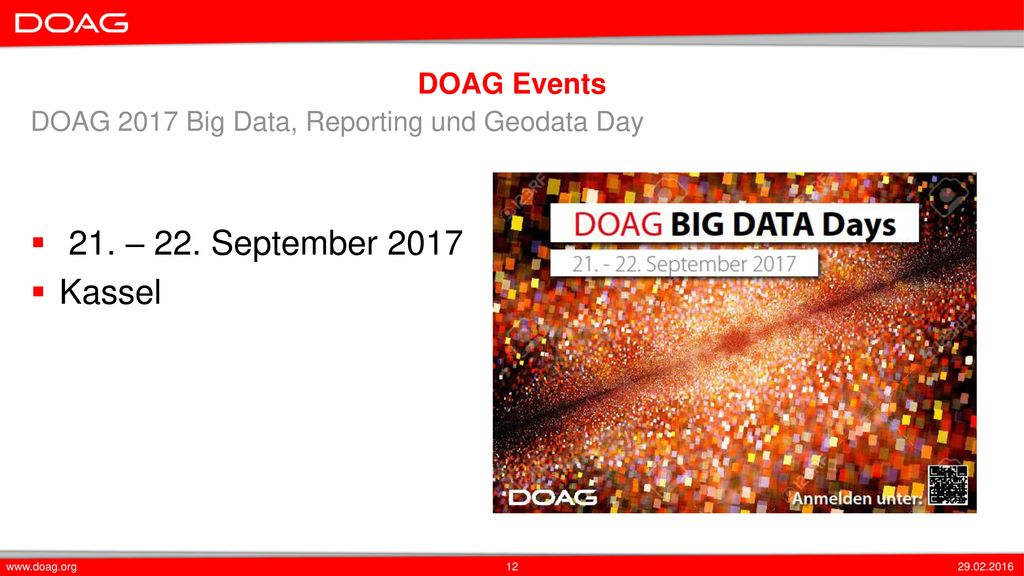 21. – 22. September 2017 Kassel DOAG Events