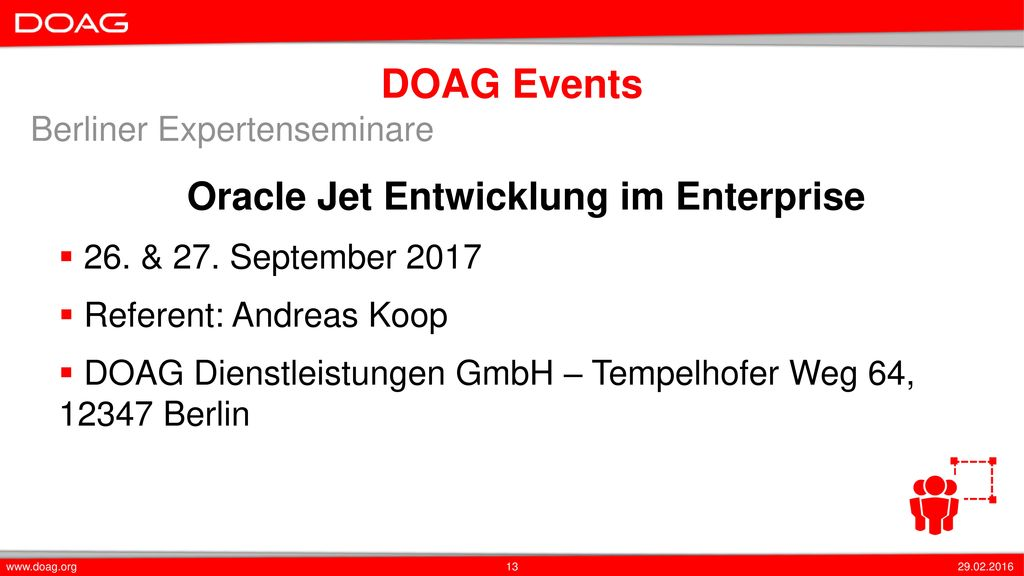Oracle Jet Entwicklung im Enterprise