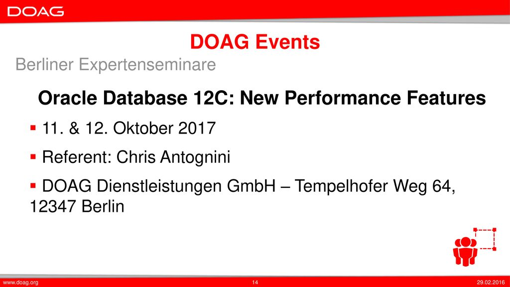 Oracle Database 12C: New Performance Features