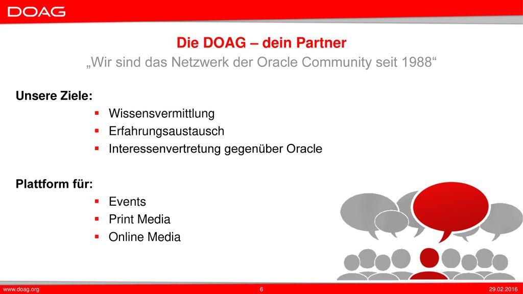"""""""Wir sind das Netzwerk der Oracle Community seit 1988"""