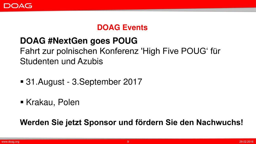 DOAG #NextGen goes POUG