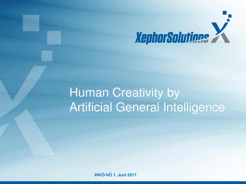 Human Creativity by Artificial General Intelligence