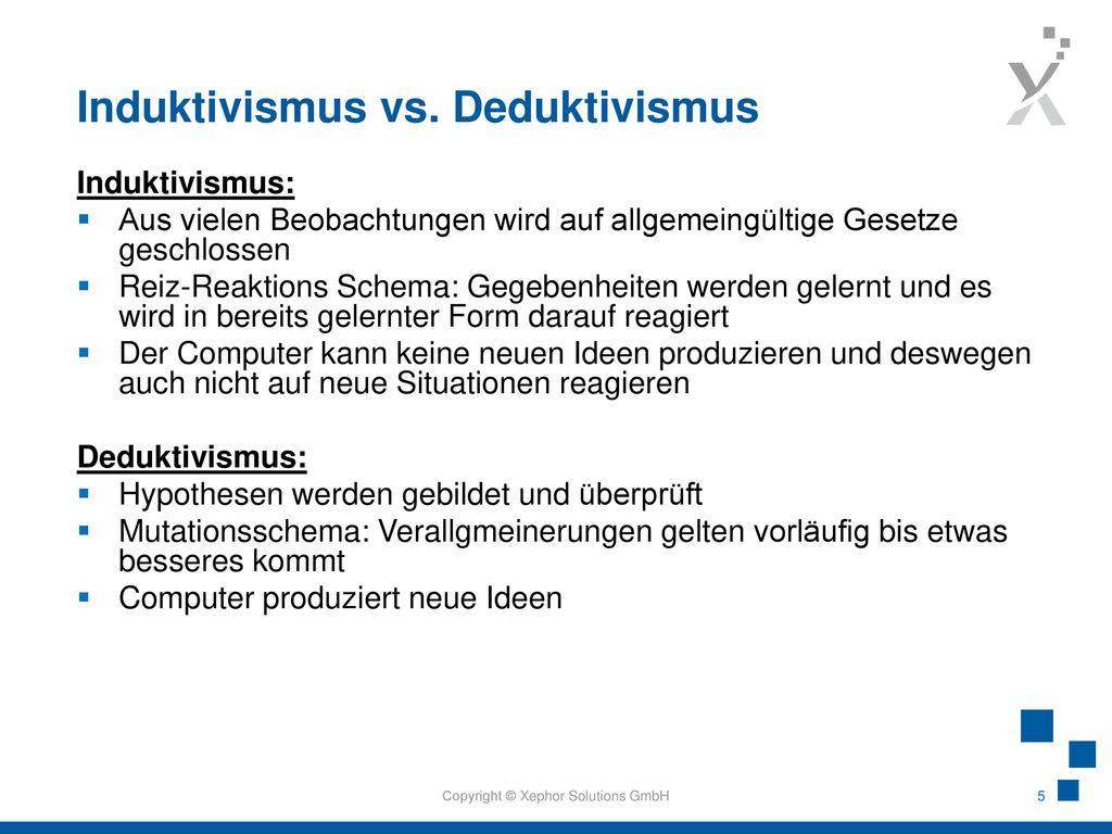 Induktivismus vs. Deduktivismus