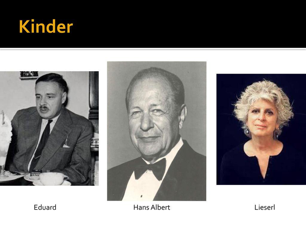 Kinder Eduard Hans Albert Lieserl