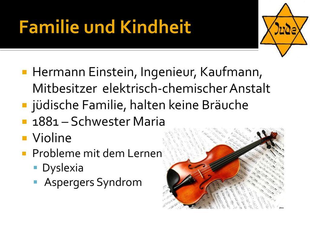 Familie und Kindheit Hermann Einstein, Ingenieur, Kaufmann, Mitbesitzer elektrisch-chemischer Anstalt.