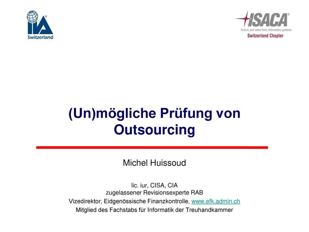 (Un)mögliche Prüfung von Outsourcing