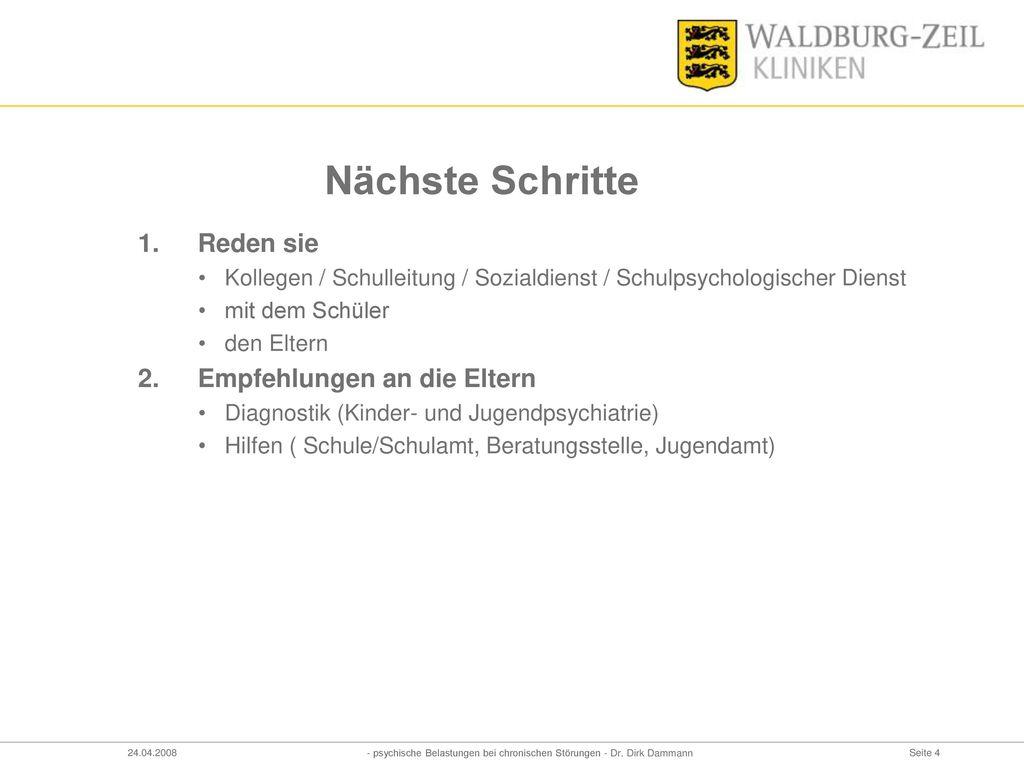 - psychische Belastungen bei chronischen Störungen - Dr. Dirk Dammann