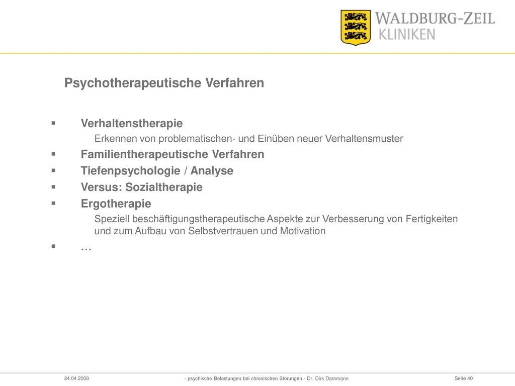 Psychotherapeutische Verfahren