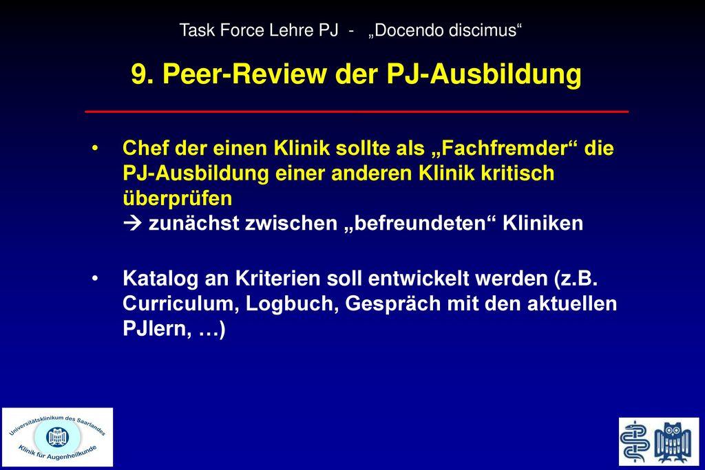 9. Peer-Review der PJ-Ausbildung
