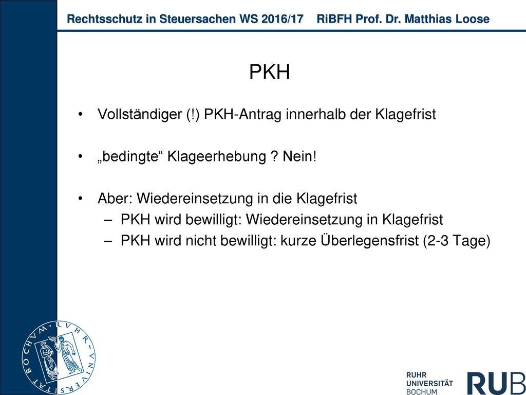 PKH Vollständiger (!) PKH-Antrag innerhalb der Klagefrist
