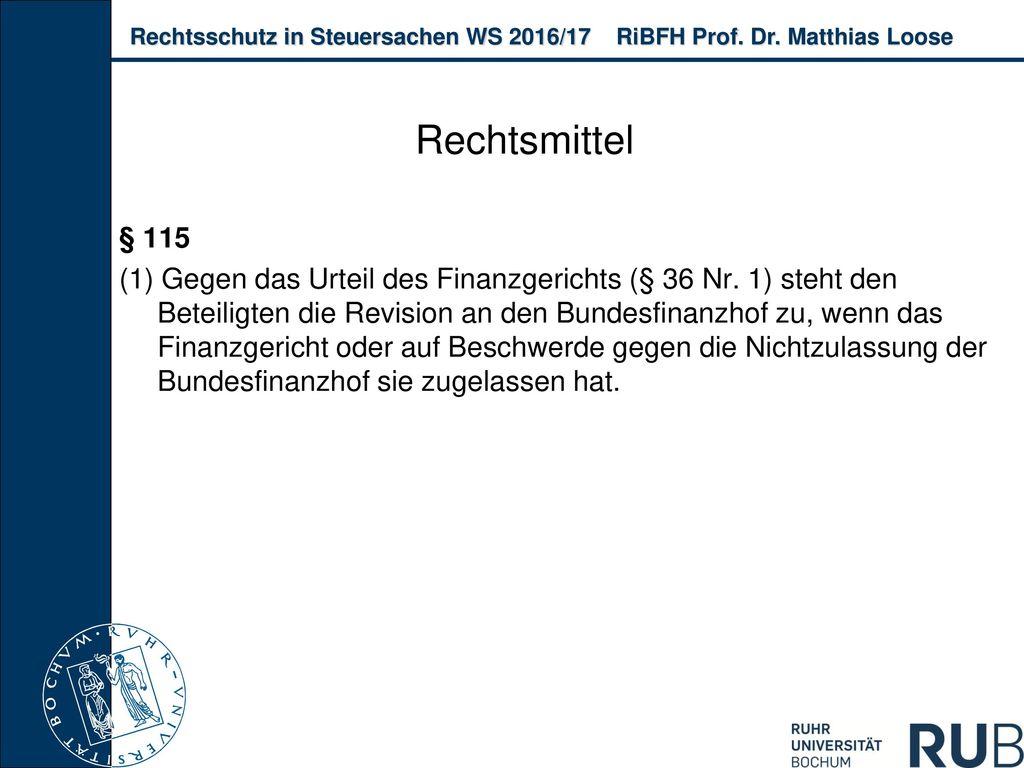 Rechtsmittel § 115.