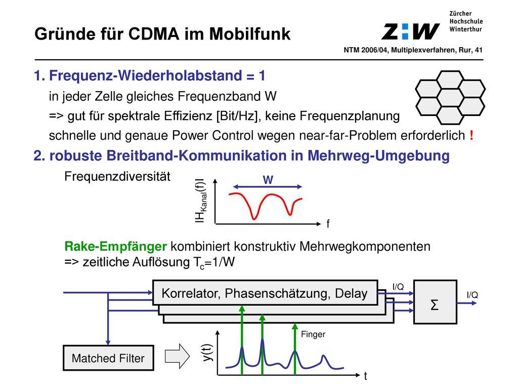 Gründe für CDMA im Mobilfunk