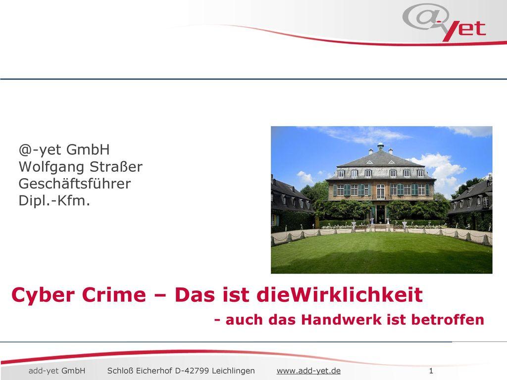 @-yet GmbH Wolfgang Straßer Geschäftsführer Dipl.-Kfm.