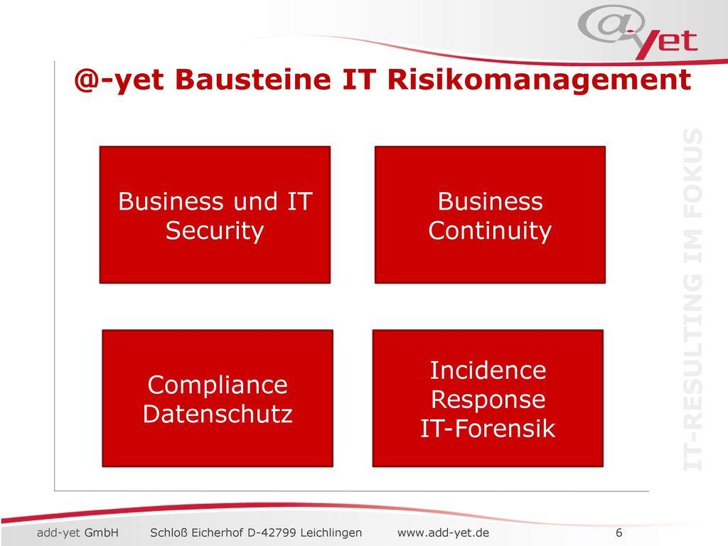 IT Risikomanagement Betrachtung der IT aus dem Blickwinkel