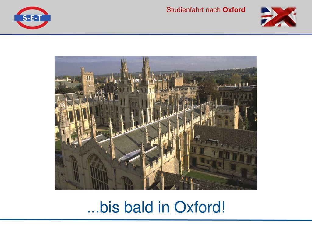 ...bis bald in Oxford!
