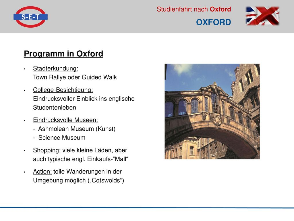 Oxford Programm in Oxford Stadterkundung: Town Rallye oder Guided Walk