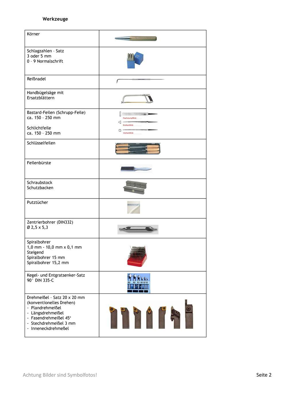Werkzeuge Körner Schlagzahlen – Satz 3 oder 5 mm 0 – 9 Normalschrift