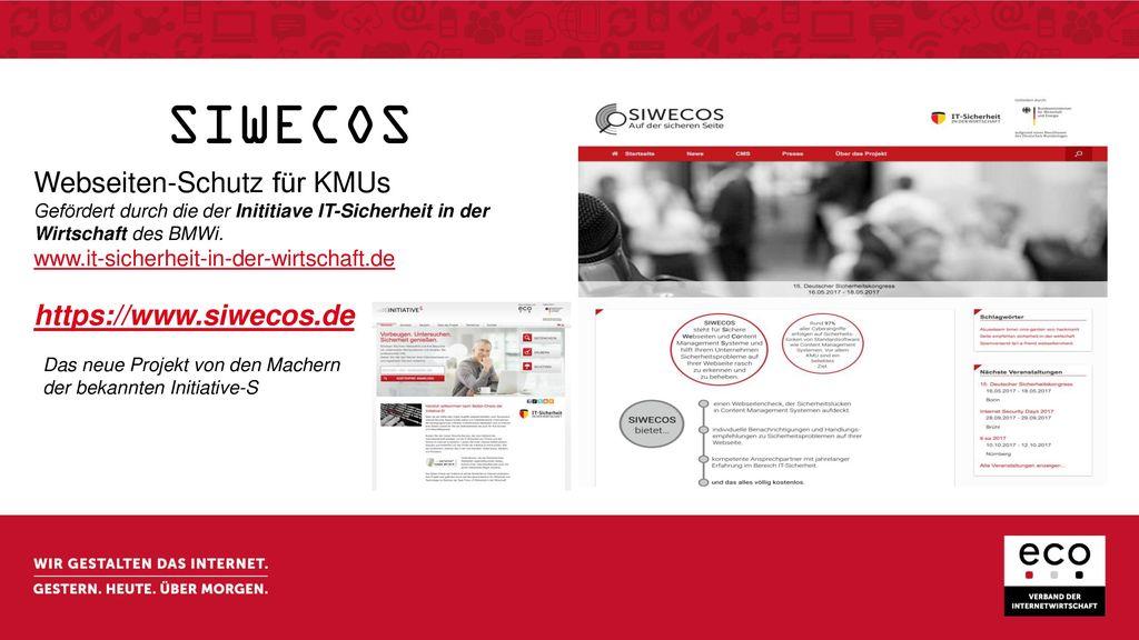 SIWECOS Webseiten-Schutz für KMUs https://www.siwecos.de