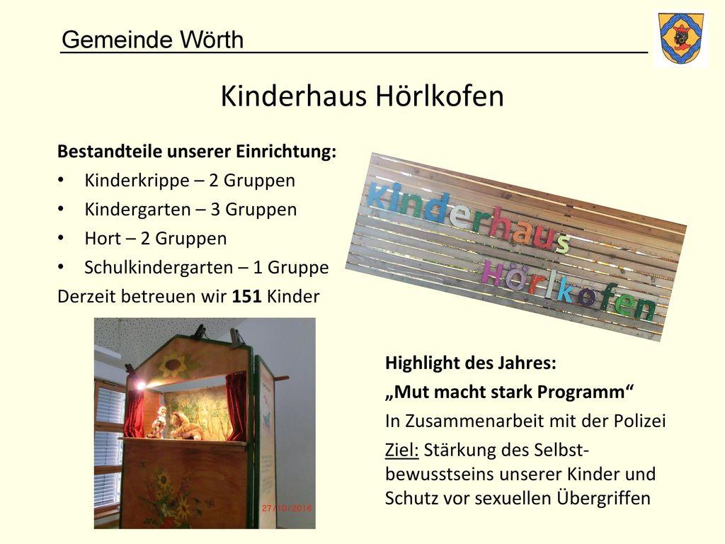 Kinderhaus Hörlkofen Bestandteile unserer Einrichtung: