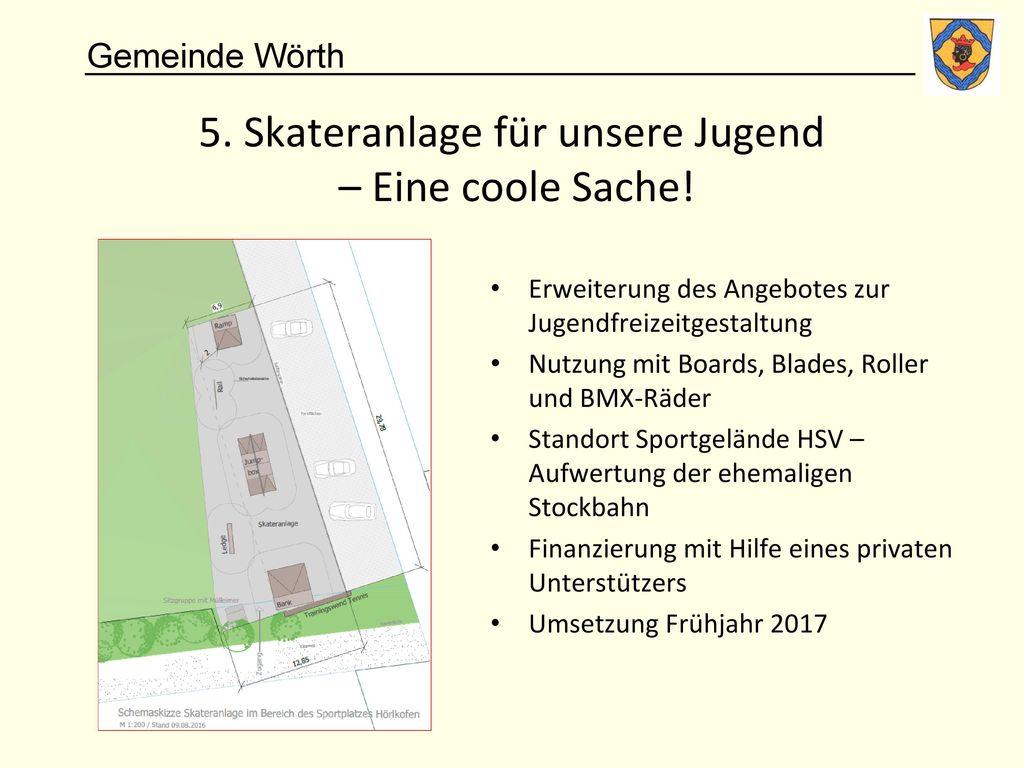 5. Skateranlage für unsere Jugend – Eine coole Sache!