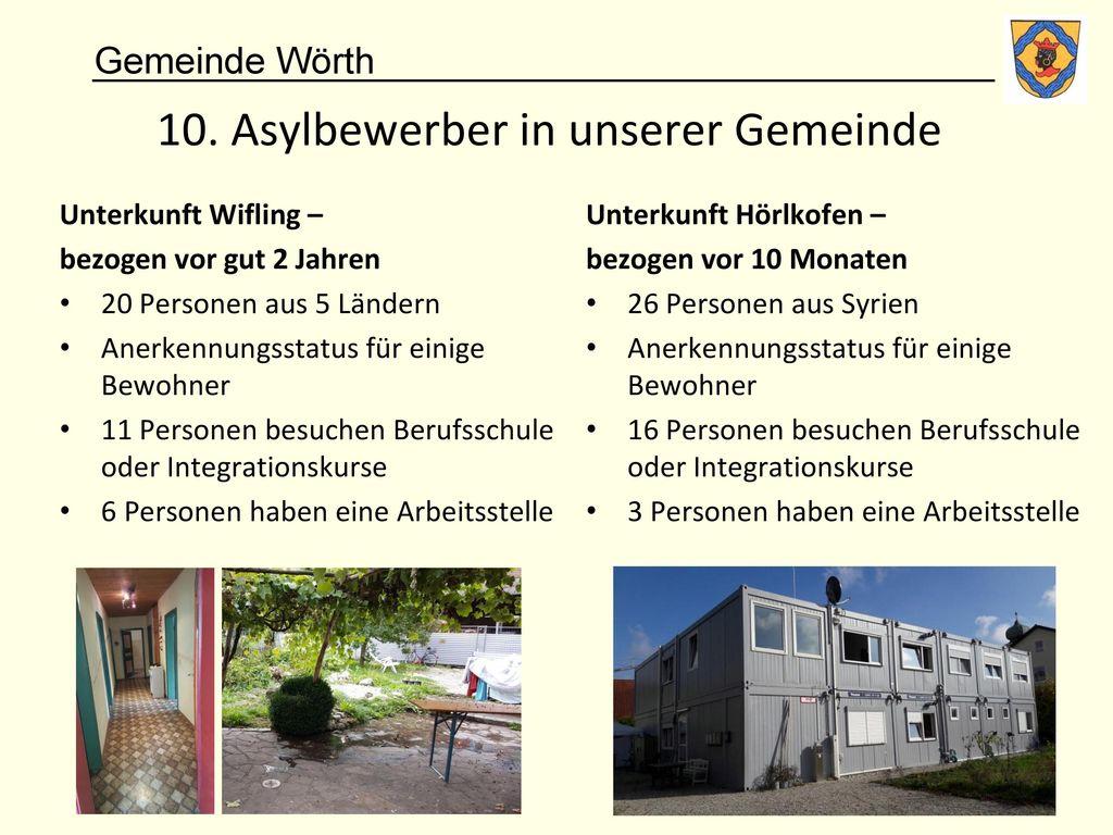 10. Asylbewerber in unserer Gemeinde