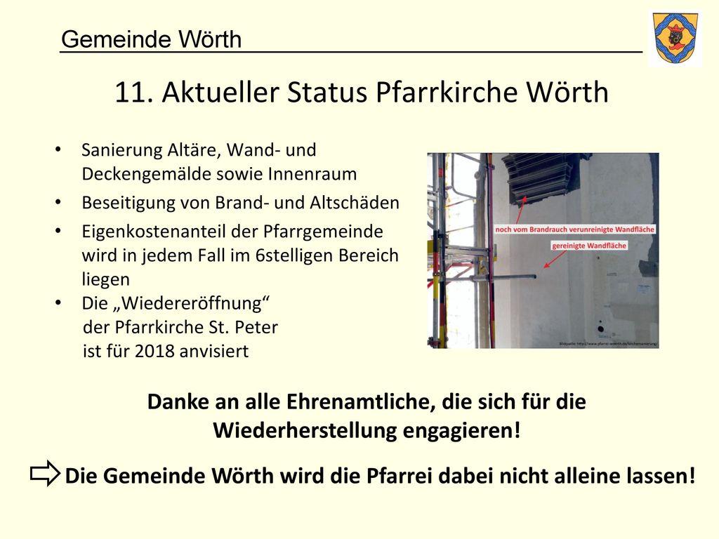 11. Aktueller Status Pfarrkirche Wörth
