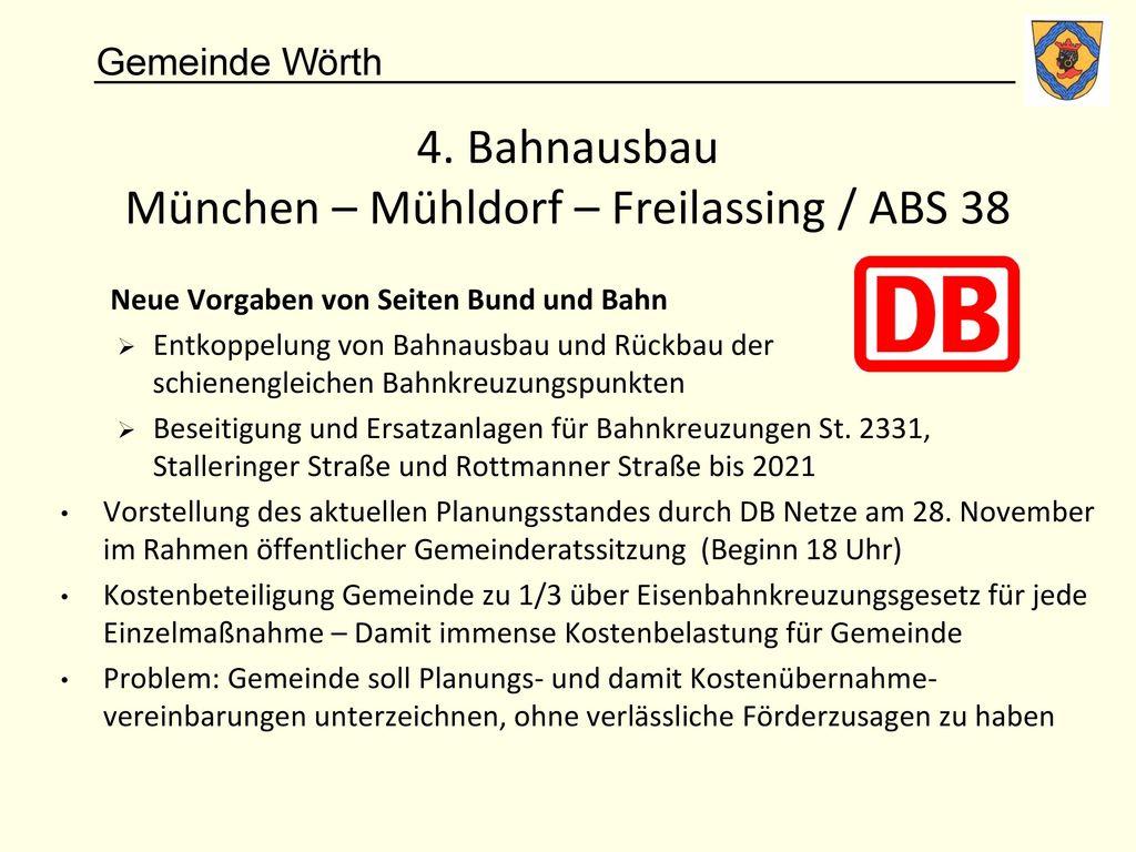4. Bahnausbau München – Mühldorf – Freilassing / ABS 38