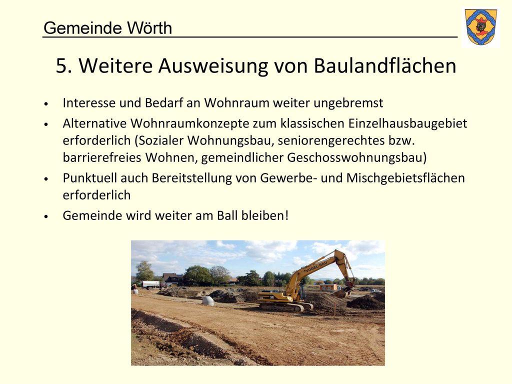 5. Weitere Ausweisung von Baulandflächen