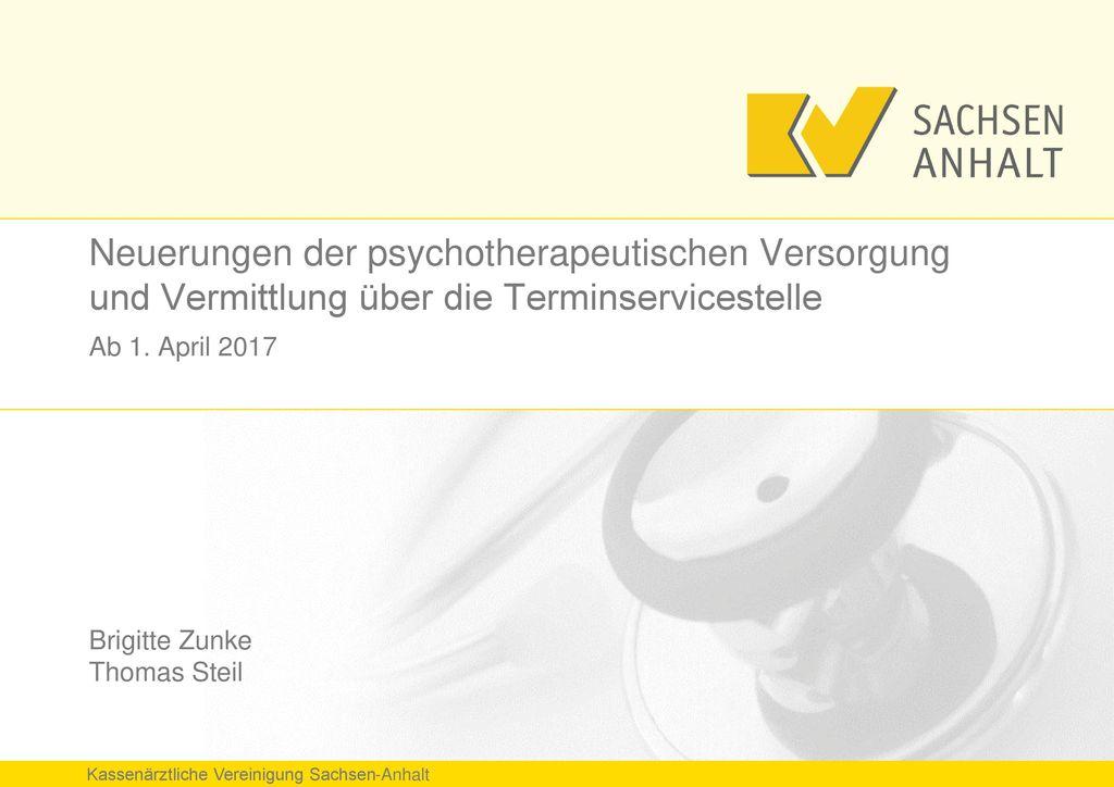 Neuerungen der psychotherapeutischen Versorgung und Vermittlung über die Terminservicestelle