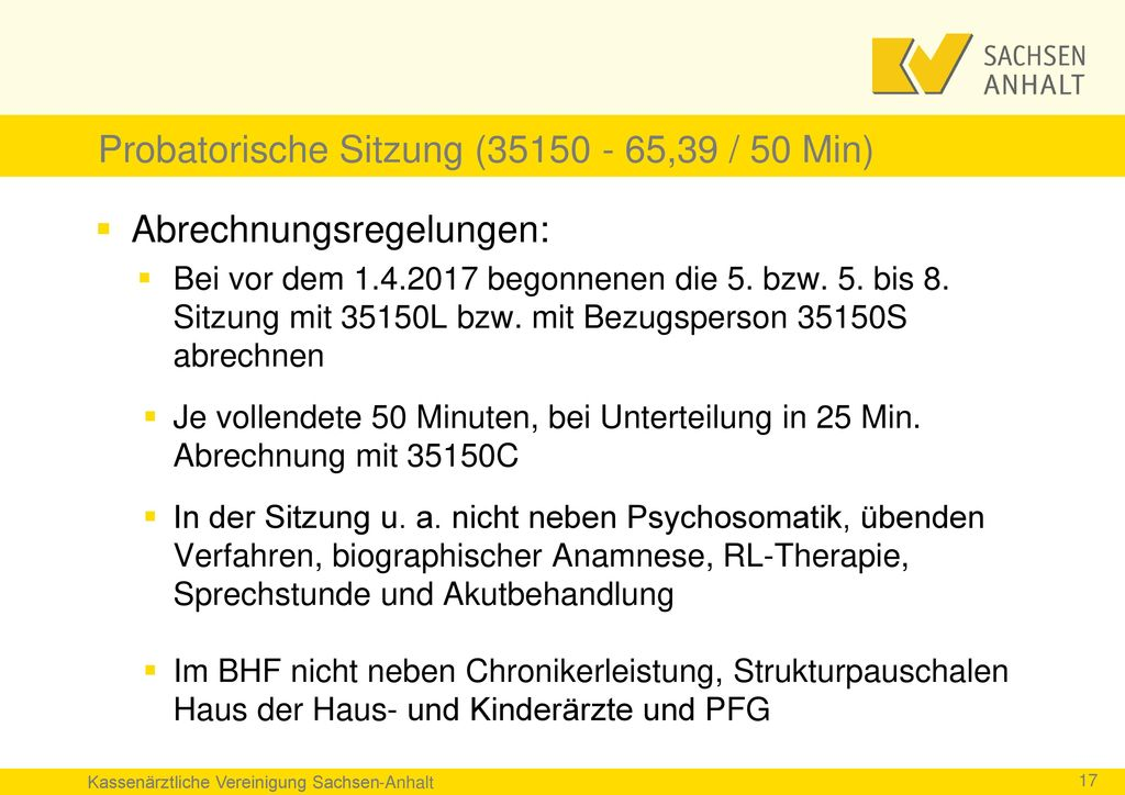 Probatorische Sitzung (35150 - 65,39 / 50 Min)