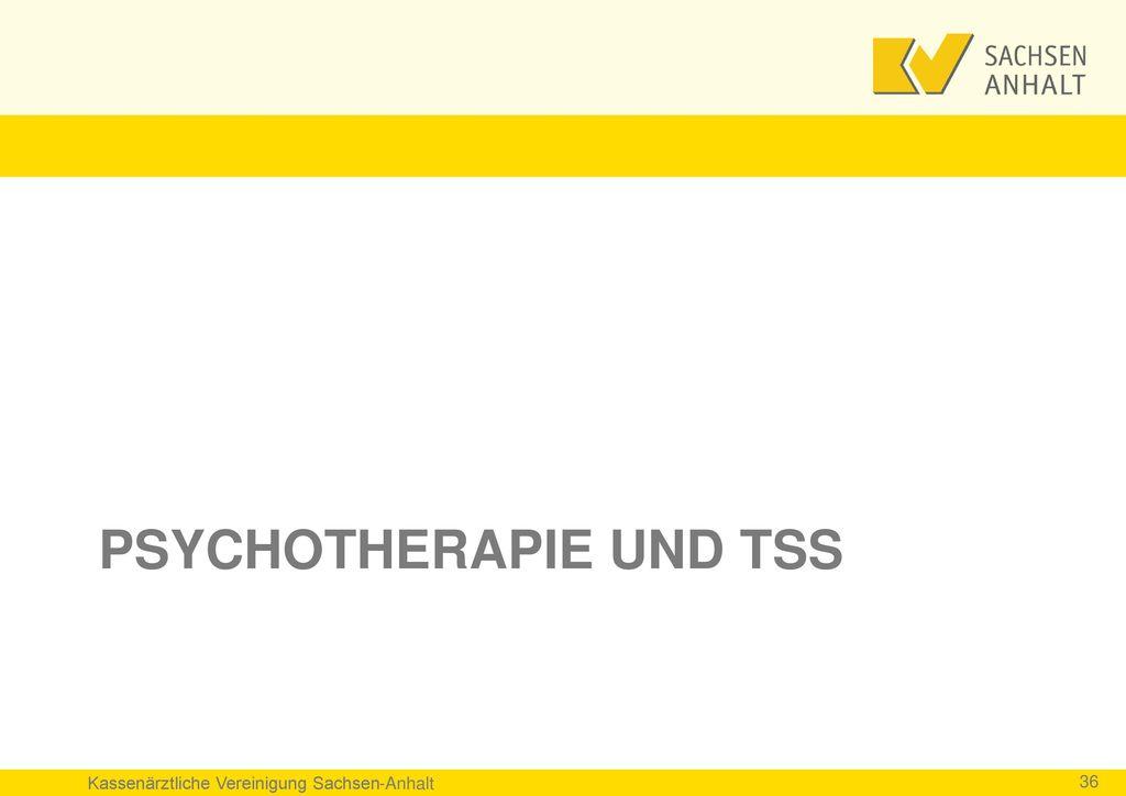 Psychotherapie und TSS