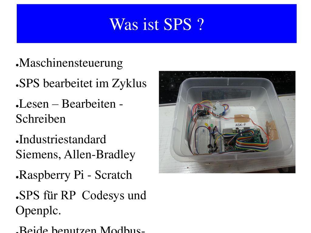 Was ist SPS Maschinensteuerung SPS bearbeitet im Zyklus