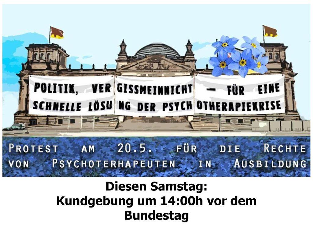 Kundgebung um 14:00h vor dem Bundestag