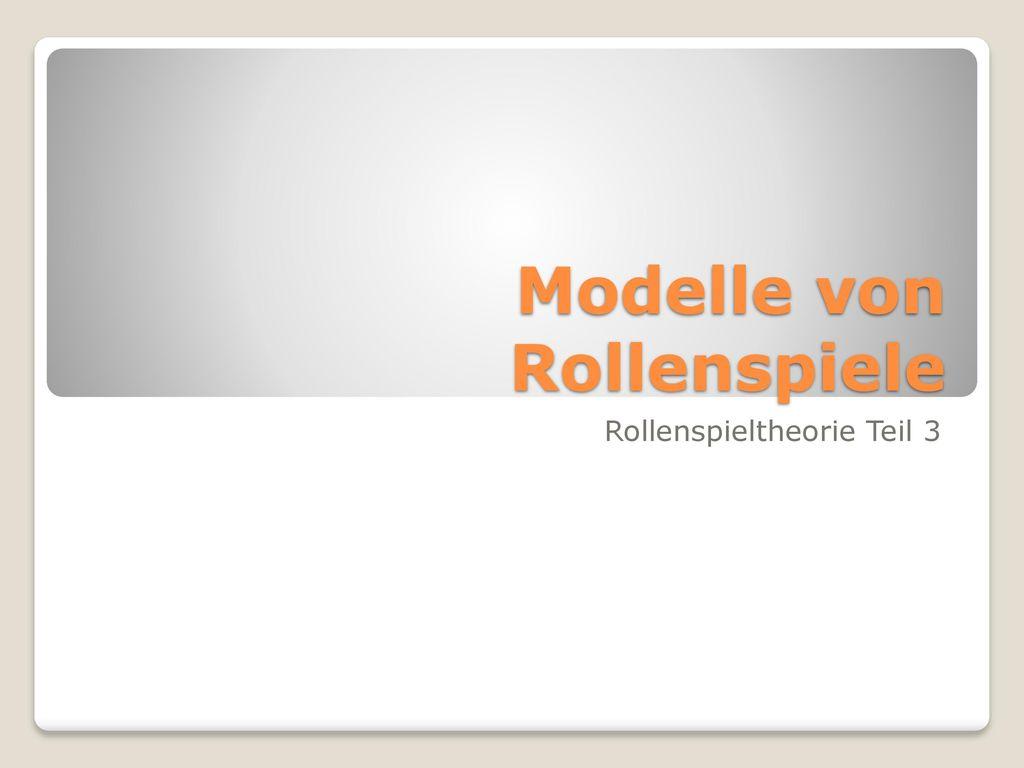 Modelle von Rollenspiele