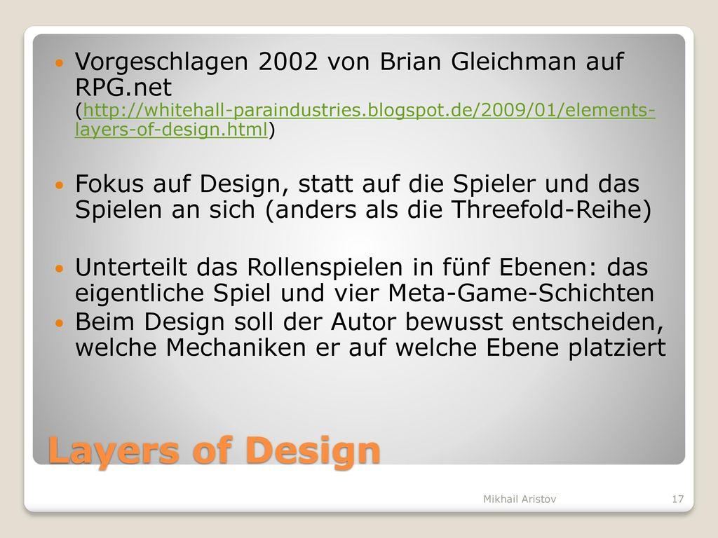 Vorgeschlagen 2002 von Brian Gleichman auf RPG