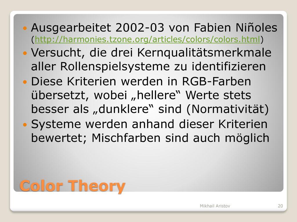 Ausgearbeitet 2002-03 von Fabien Niñoles (http://harmonies. tzone