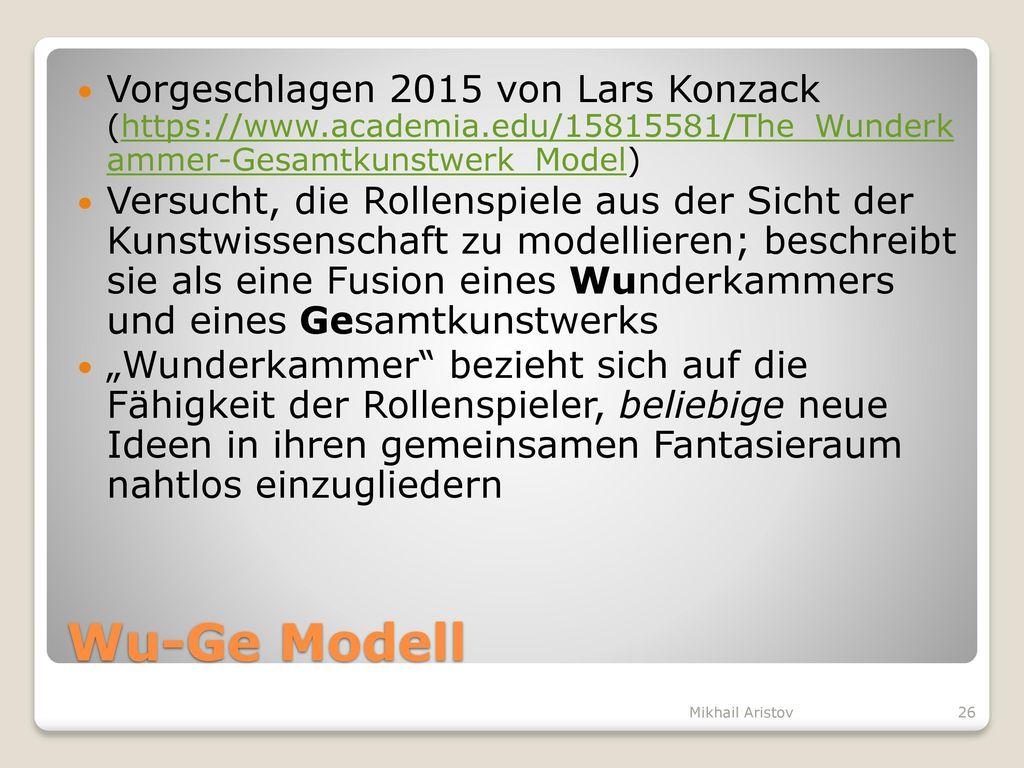Vorgeschlagen 2015 von Lars Konzack (https://www. academia