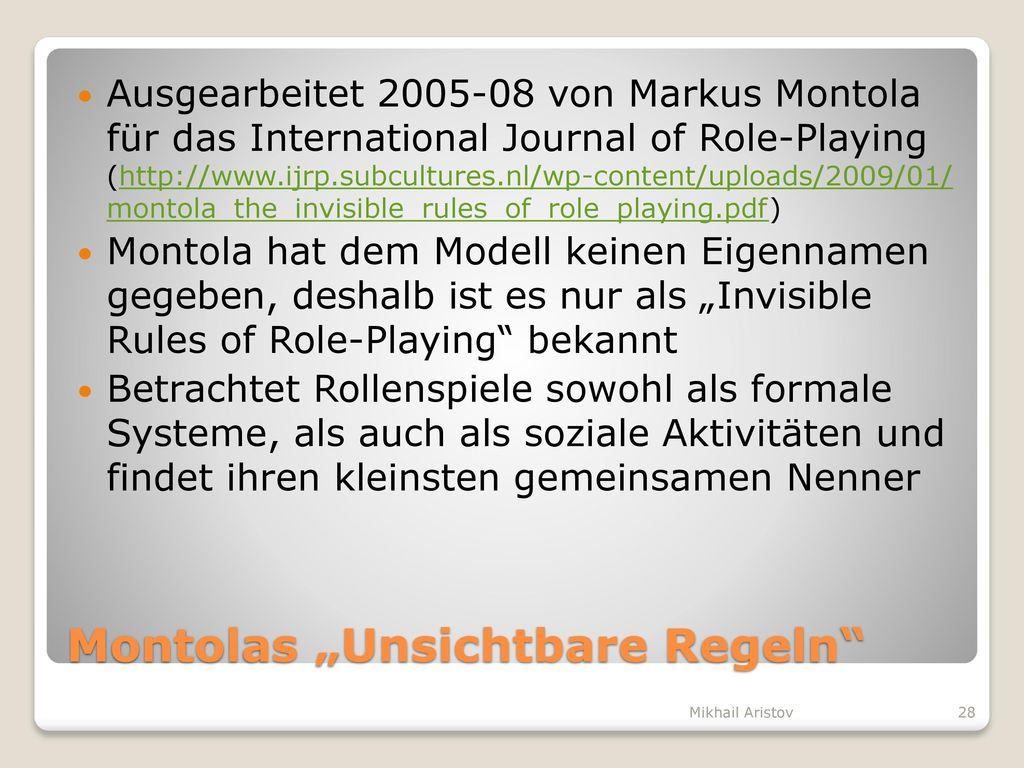 """Montolas """"Unsichtbare Regeln"""