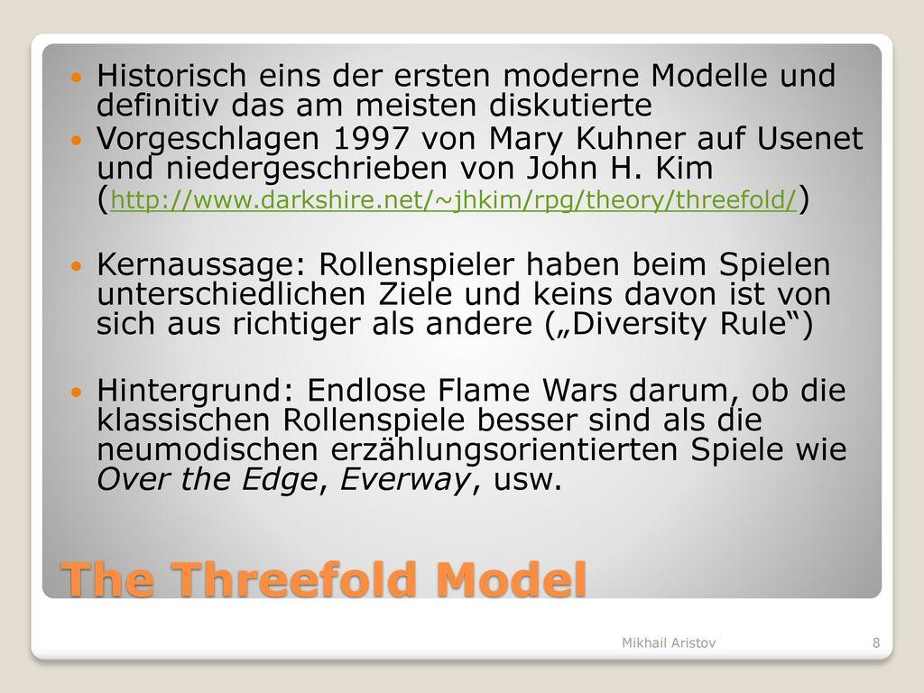 Historisch eins der ersten moderne Modelle und definitiv das am meisten diskutierte