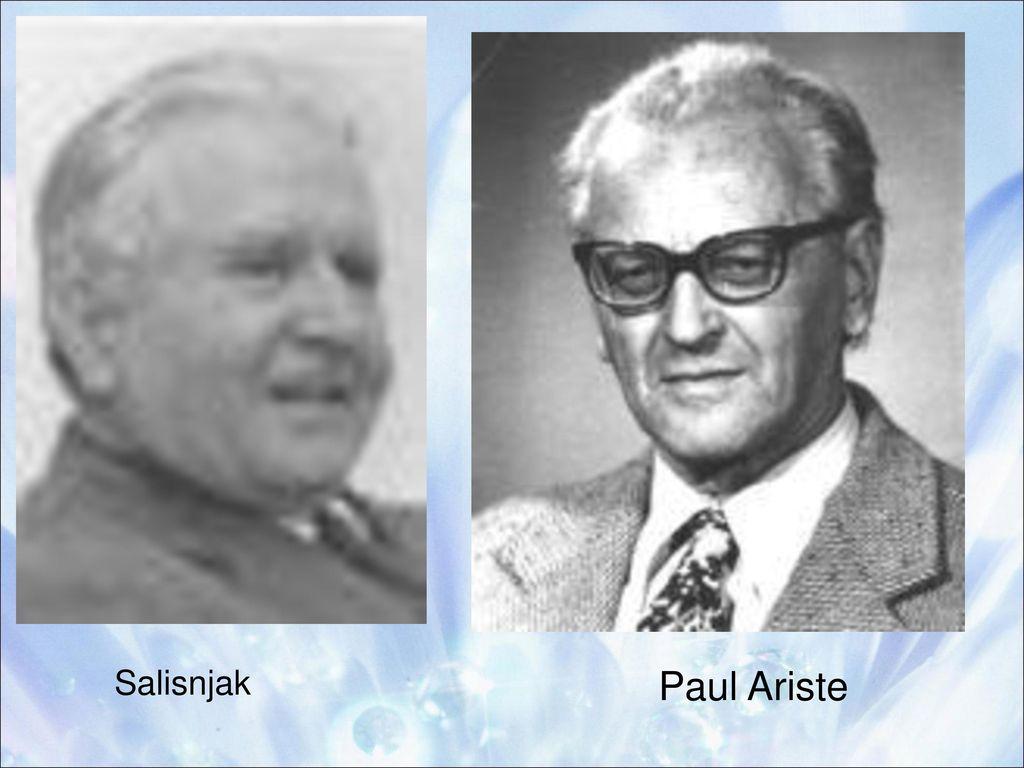 Salisnjak Paul Ariste
