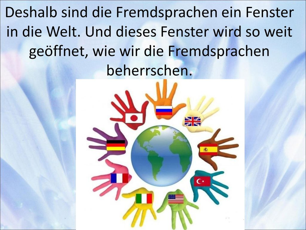 Deshalb sind die Fremdsprachen ein Fenster in die Welt