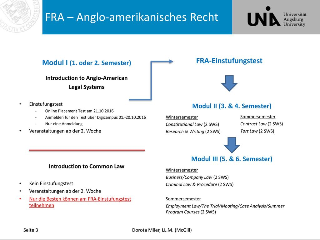 FRA – Anglo-amerikanisches Recht