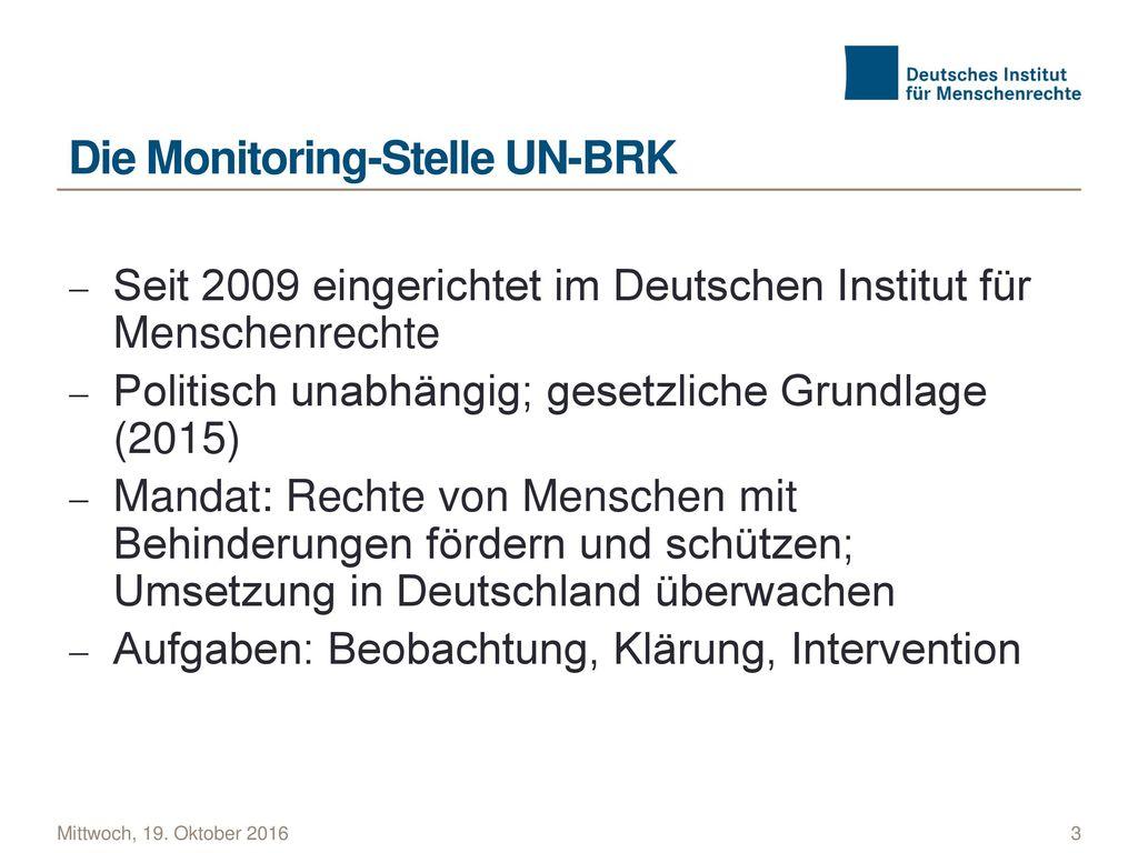 Die Monitoring-Stelle UN-BRK