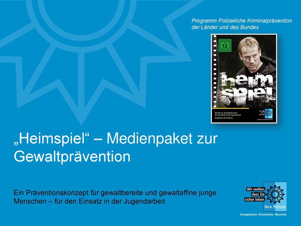 """""""Heimspiel – Medienpaket zur Gewaltprävention"""