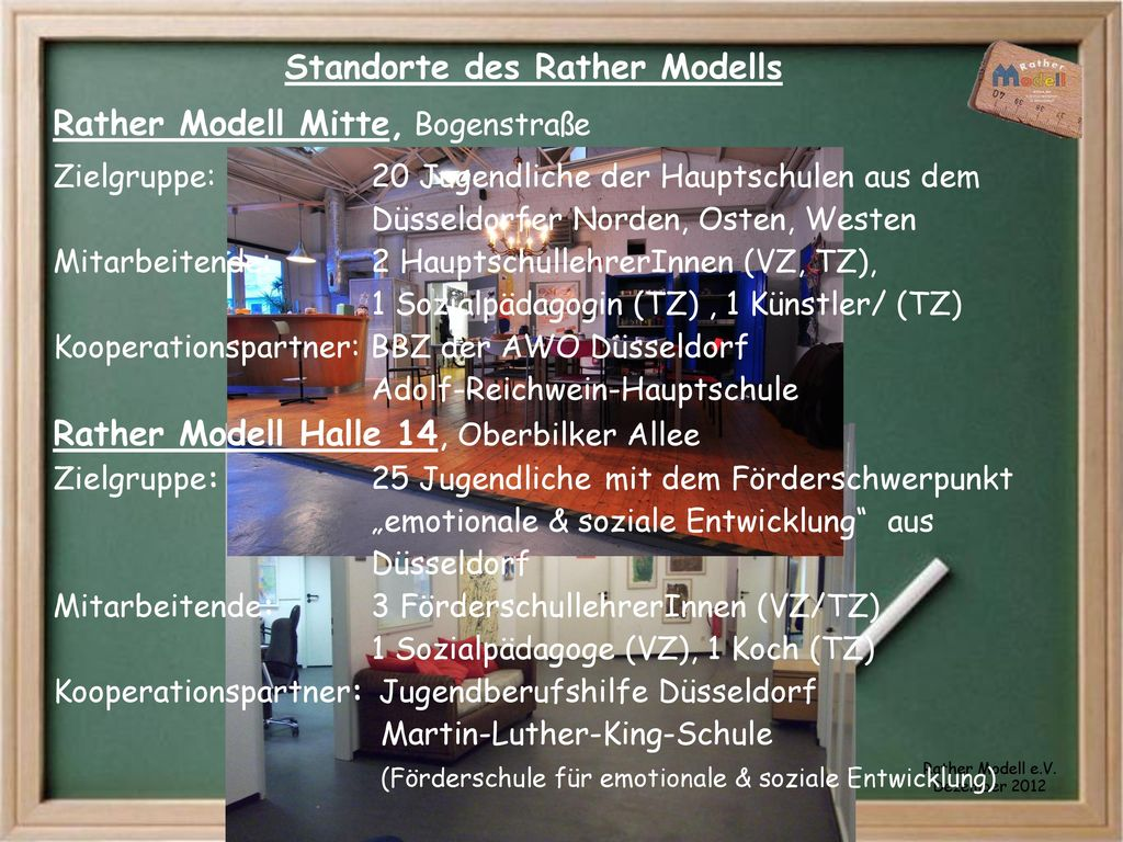 Standorte des Rather Modells