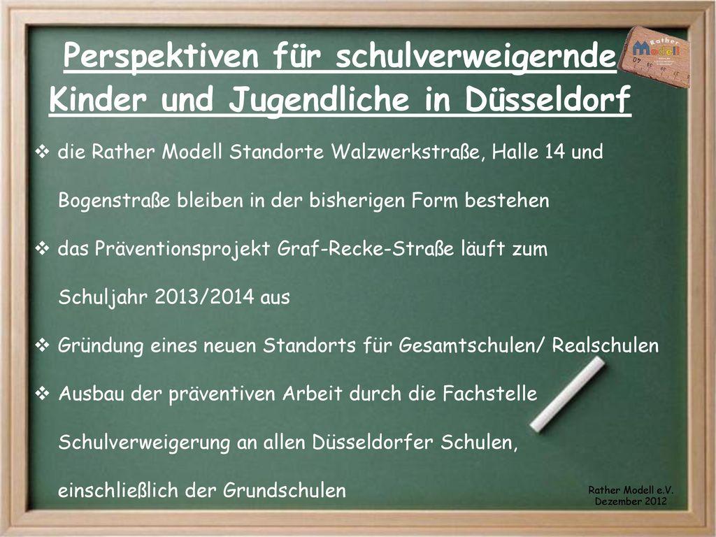 Perspektiven für schulverweigernde Kinder und Jugendliche in Düsseldorf