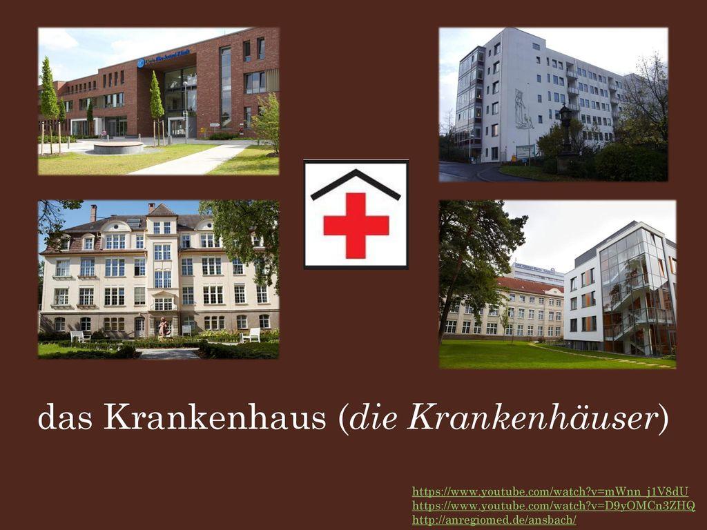 das Krankenhaus (die Krankenhäuser)