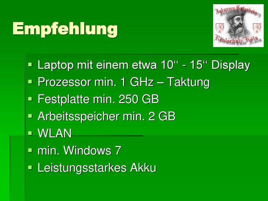 Empfehlung Laptop mit einem etwa 10'' - 15'' Display
