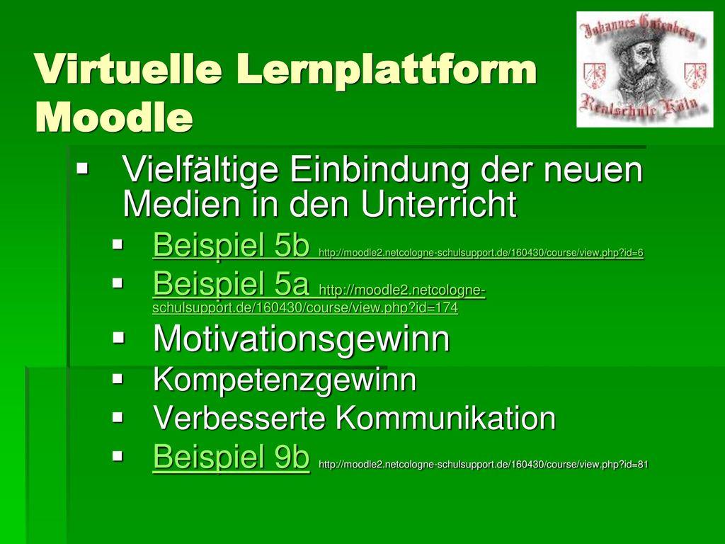 Virtuelle Lernplattform Moodle